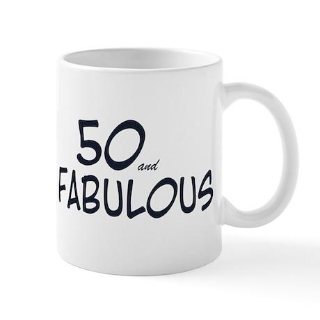 50th birthday 50 fabulous Mug