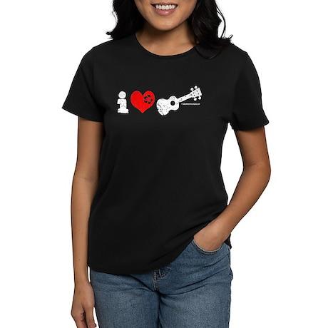 I Love Ukulele Women's Dark T-Shirt