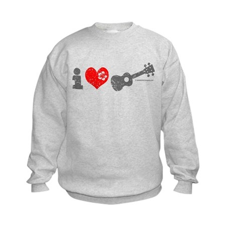 I Love Ukulele Kids Sweatshirt