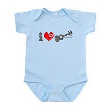 I Love Ukulele Infant Bodysuit