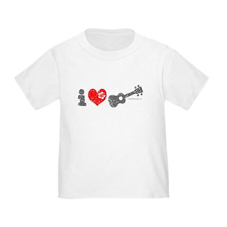 I Love Ukulele Toddler T-Shirt