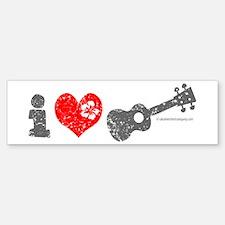 I Love Ukulele Bumper Bumper Sticker