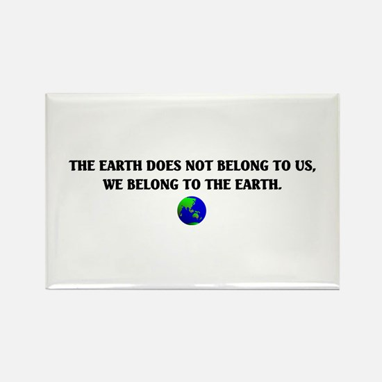 Mother Earth Rectangle Magnet