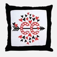 Cross Country Valentines Throw Pillow