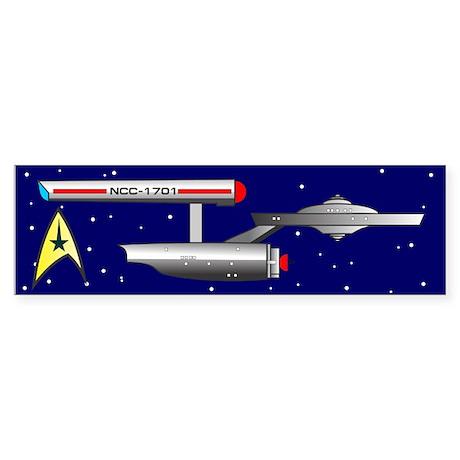 Starship Enterprise Sticker (Bumper)