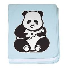 Ukulele Panda Baby baby blanket