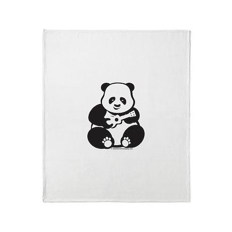 Ukulele Panda Throw Blanket