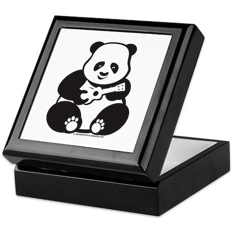 Ukulele Panda Keepsake Box