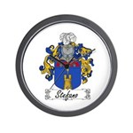 Stefano Family Crest Wall Clock