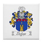 Stefano Family Crest Tile Coaster