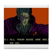 Cool All your base belong us Tile Coaster