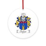 Stefano Family Crest Ornament (Round)