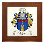 Stefano Family Crest Framed Tile