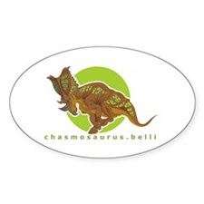 Chasmosaurus Oval Decal