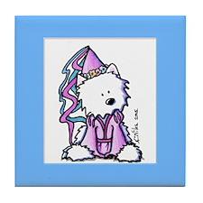 Westie Princess Tile Coaster