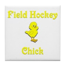 Field Hockey Chick Tile Coaster