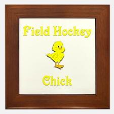 Field Hockey Chick Framed Tile