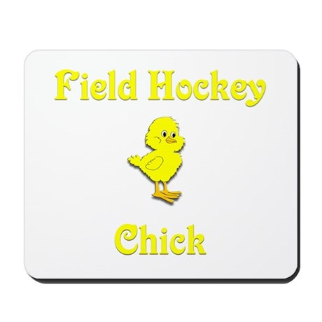 Field Hockey Chick Mousepad