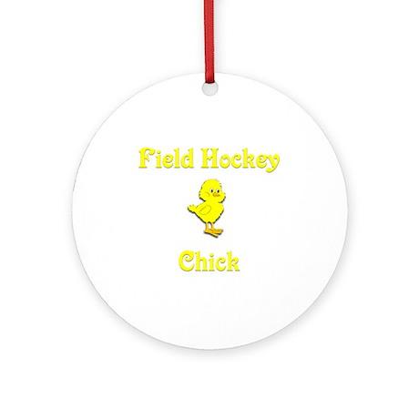 Field Hockey Chick Ornament (Round)