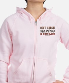 Dirt Track Racing Blood Zip Hoodie
