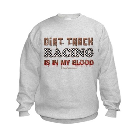 Dirt Track Racing Blood Kids Sweatshirt