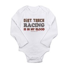 Dirt Track Racing Blood Baby Suit