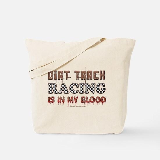 Dirt Track Racing Blood Tote Bag