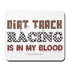 Dirt Track Racing Blood Mousepad