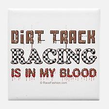 Dirt Track Racing Blood Tile Coaster