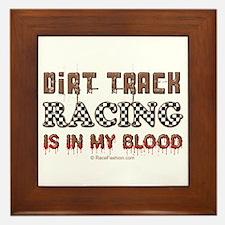Dirt Track Racing Blood Framed Tile