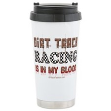 Dirt Track Racing Blood Travel Mug