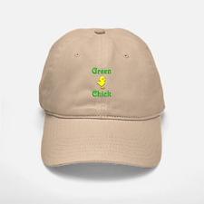 Green Chick Baseball Baseball Cap