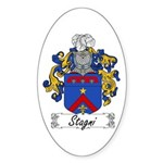 Stagni Coat of Arms Oval Sticker