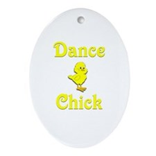 Dance Chick Ornament (Oval)