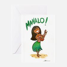 Funny Ukulele girl Greeting Card