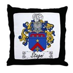 Stagni Coat of Arms Throw Pillow