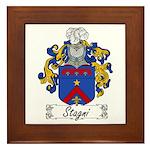 Stagni Coat of Arms Framed Tile