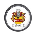 Spinello Family Crest Wall Clock