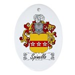 Spinello Family Crest Oval Ornament