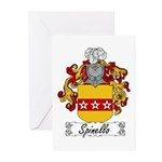 Spinello Family Crest Greeting Cards (Pk of 10