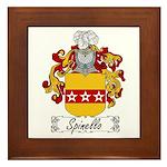 Spinello Family Crest Framed Tile
