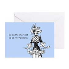 Short List Valentine Greeting Cards (Pk of 10)