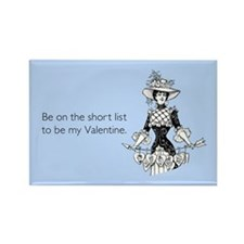 Short List Valentine Rectangle Magnet