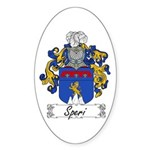 Speri Family Crest Oval Sticker