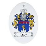 Speri Family Crest Oval Ornament