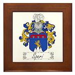 Speri Family Crest Framed Tile