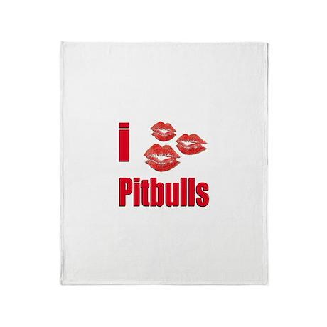 I Love Pitbulls Throw Blanket