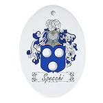 Specchi Coat of Arms Oval Ornament