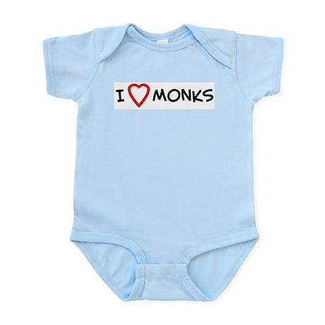 I Love Monks Infant Creeper