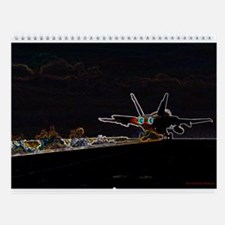 US F-18 Aero-Art Wall Calendar